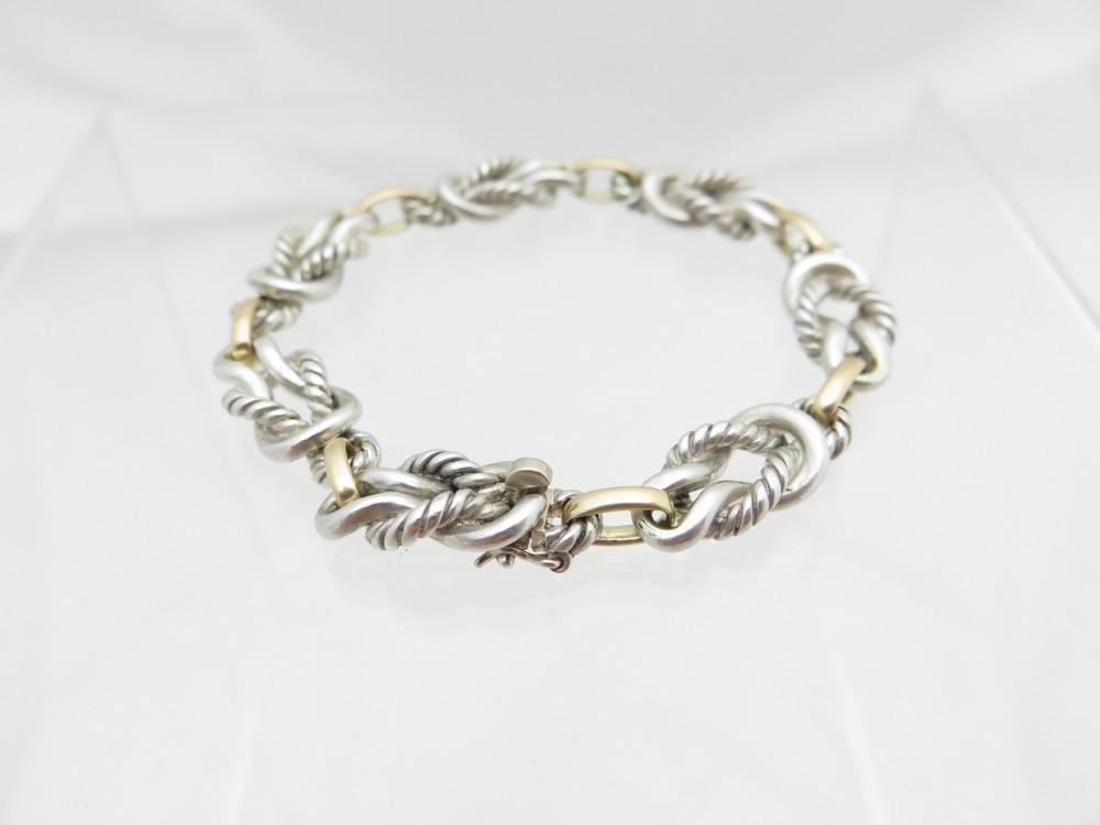 e23b929912 ... france bracelet hermes noeuds marins en argent or 20bdf 03cc4