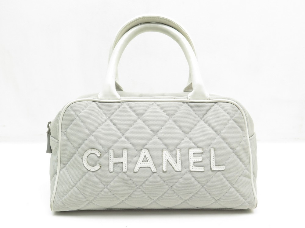 sac a main chanel bowling boston toile et cuir gris 736e0f8cc52
