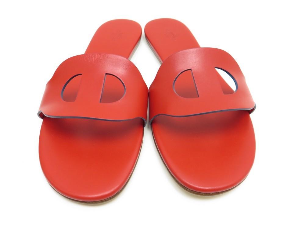 Cuir Hermes 41 Lisboa Sandales En Chaussures 34j5ral qSpGzUMV