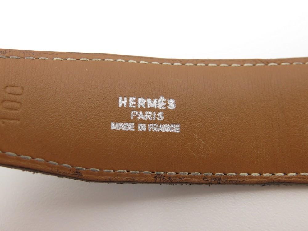 ceinture hermes touareg boucle argent t 100 cuir f1910c61f11