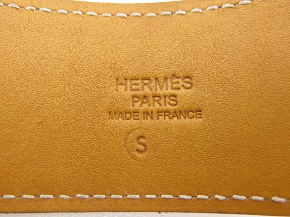 CEINTURE HERMES T 90 EN CUIR TOGO MARRON BOUCLE ACIER PALLADIE LEATHER BELT  600€ 5e0558b511a