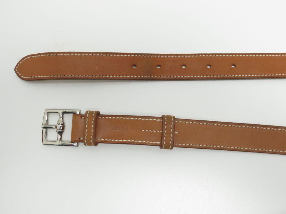 dcfe10288de ceinture hermes etriviere t 80 double tour cuir