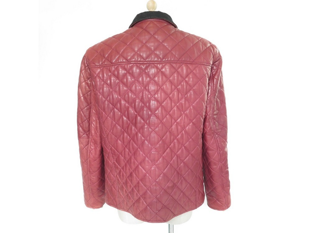 manteau armani jeans m 50 blouson en cuir matelasse bdd508d48a5