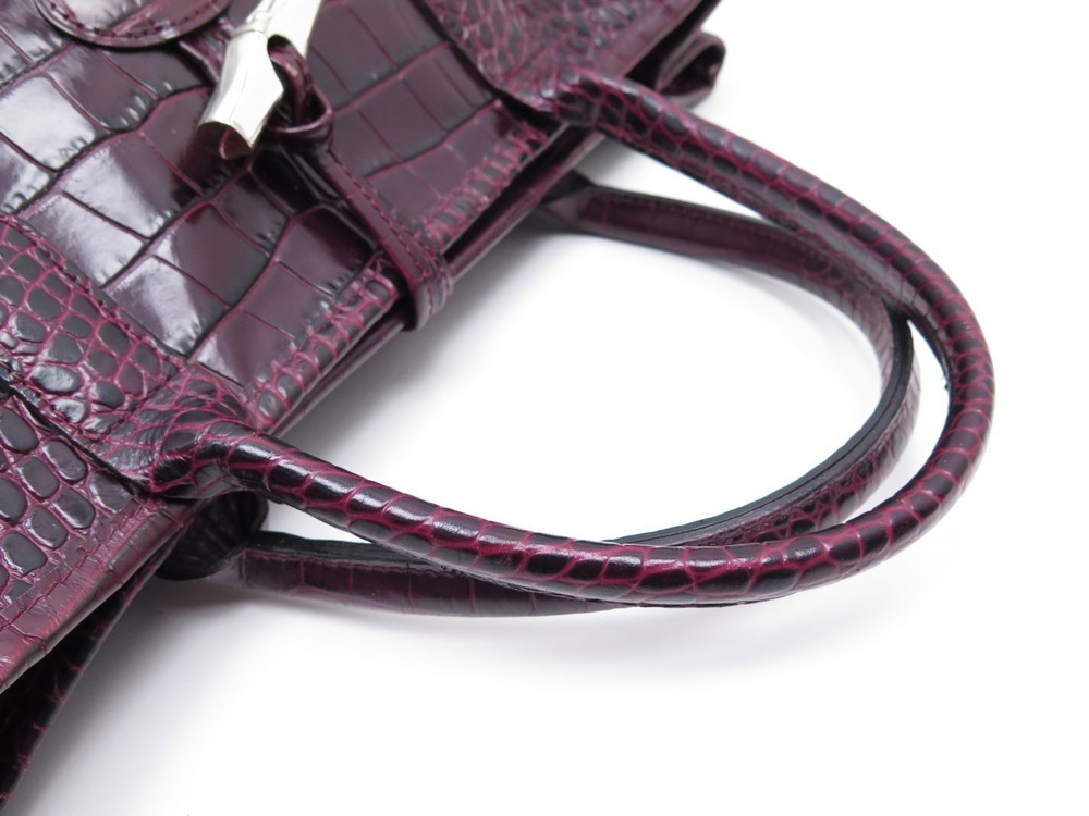Handbag Tote Roseau Borsa L1681158161 Croco Longchamp L qE1fwHwxW