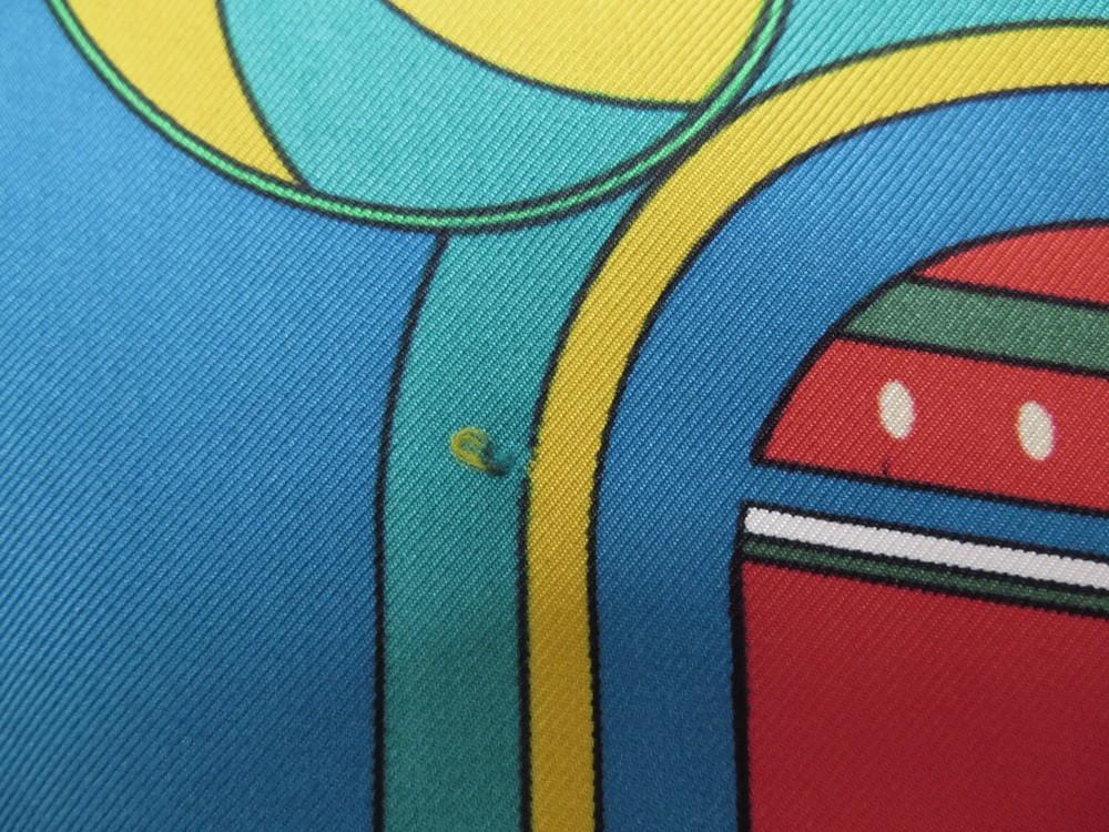 foulard hermes sequences en soie bleue carre 90 cm 3e7757e4804