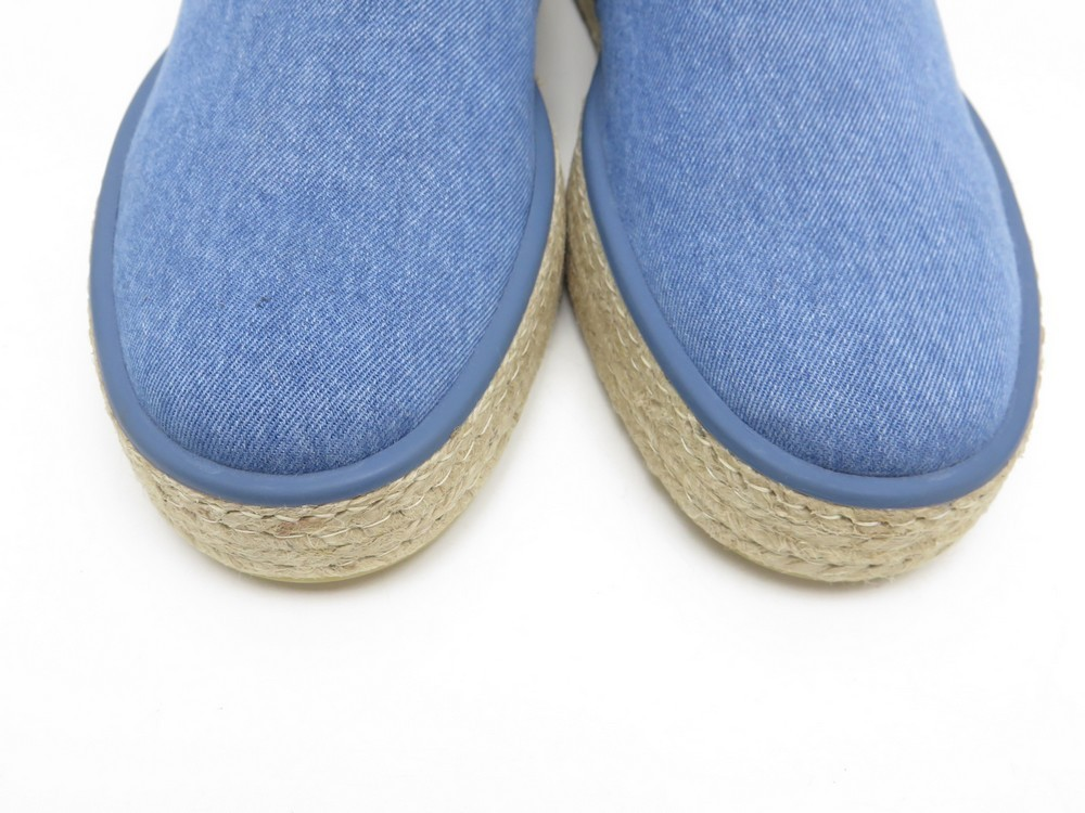 72f1d89f566e NEUF CHAUSSURE LOUIS VUITTON 7 41 COCONUT ESPADRILLE BASKET SLIP ON BLUE  JEANS