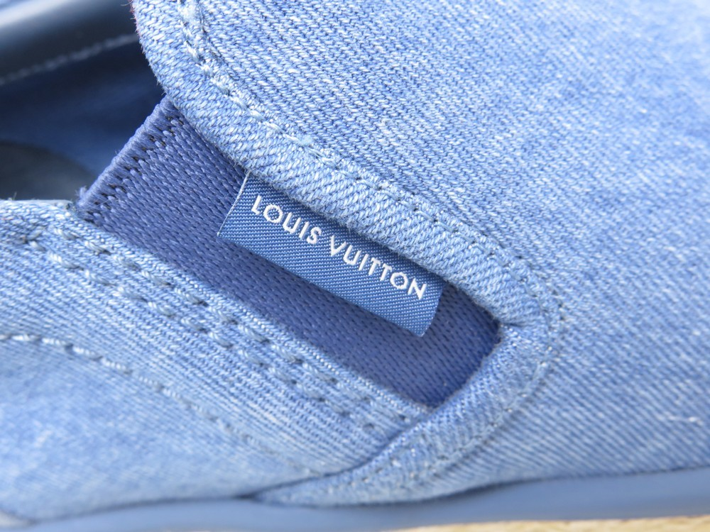 7b4883372565 NEUF CHAUSSURE LOUIS VUITTON 7 41 COCONUT ESPADRILLE BASKET SLIP ON BLUE  JEANS. Next