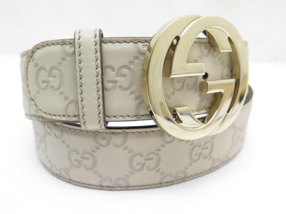 d7b673cbb ceinture gucci signature boucle gg 114876 t 90