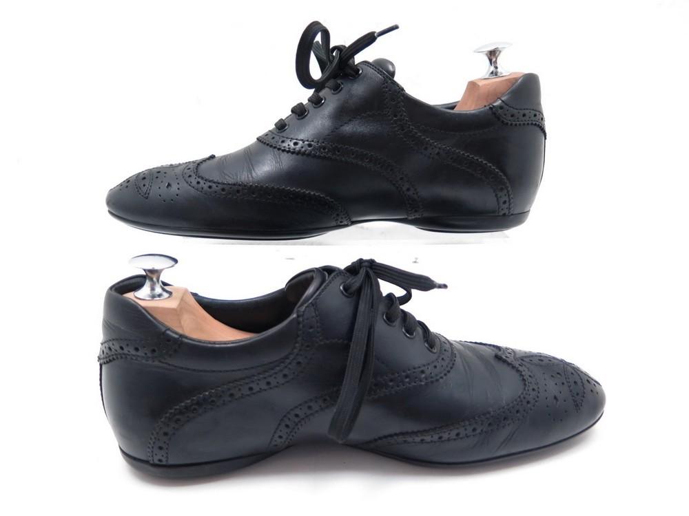 chaussures louis vuitton baskets 6 40 en cuir noir d271c3683b2