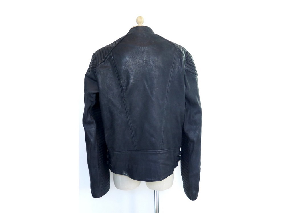 Veste de motard en cuir scotch and soda