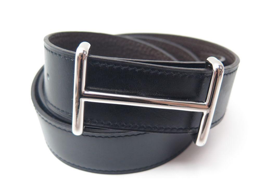 9bc556d7b02b ceinture hermes t 85 lien cuir reversible togo marron