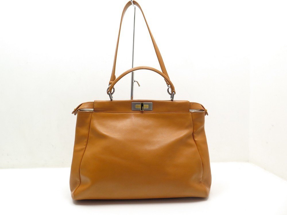 sac a main fendi peekaboo 8bn210 gm cuir orange bfa2c41c890