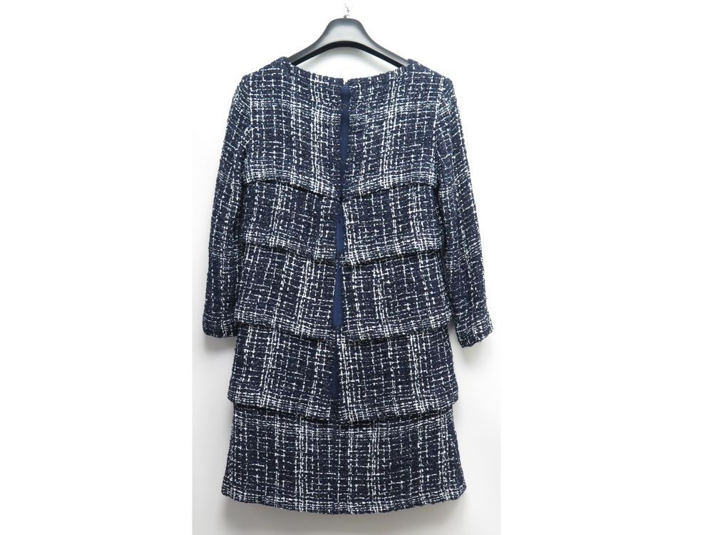 9d63ec5cc4884 robe chanel p49070 40 m en tweed nylon coton bleu