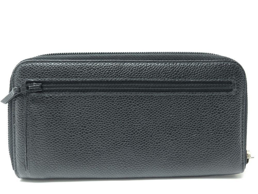 grand portefeuille chanel logo cc en cuir caviar noir df435c4a05b