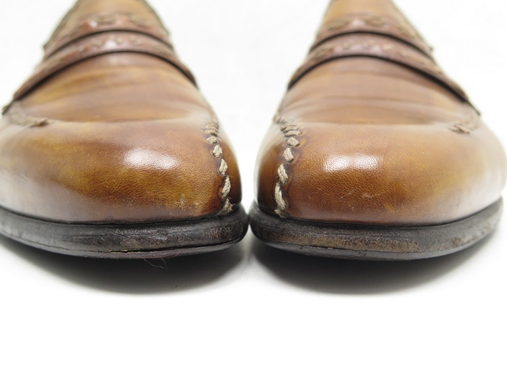 4828abcb2f3 CHAUSSURES BERLUTI MOCASSINS 9 43 CUIR MARRON BROWN LEATHER LOAFERS SHOES  1670€