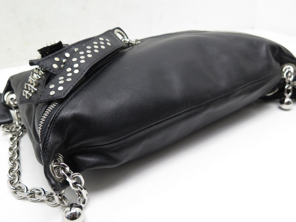 a1f5fdd185c CHRISTIAN LOUBOUTIN HANDBAGS trophe studded nappa sike shoulder bags