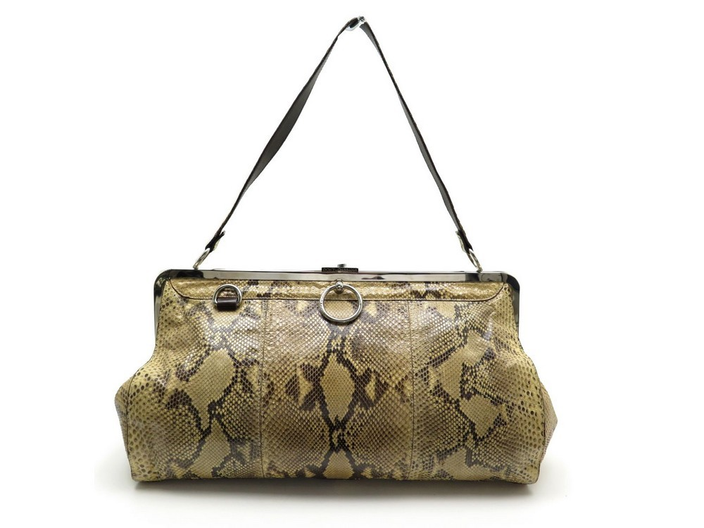 cde4f0f27d Loading zoom. Previous. SAC A MAIN DOLCE AND GABBANA 41CM EN PYTHON BEIGE  EXOTIC LEATHER HAND BAG PURSE