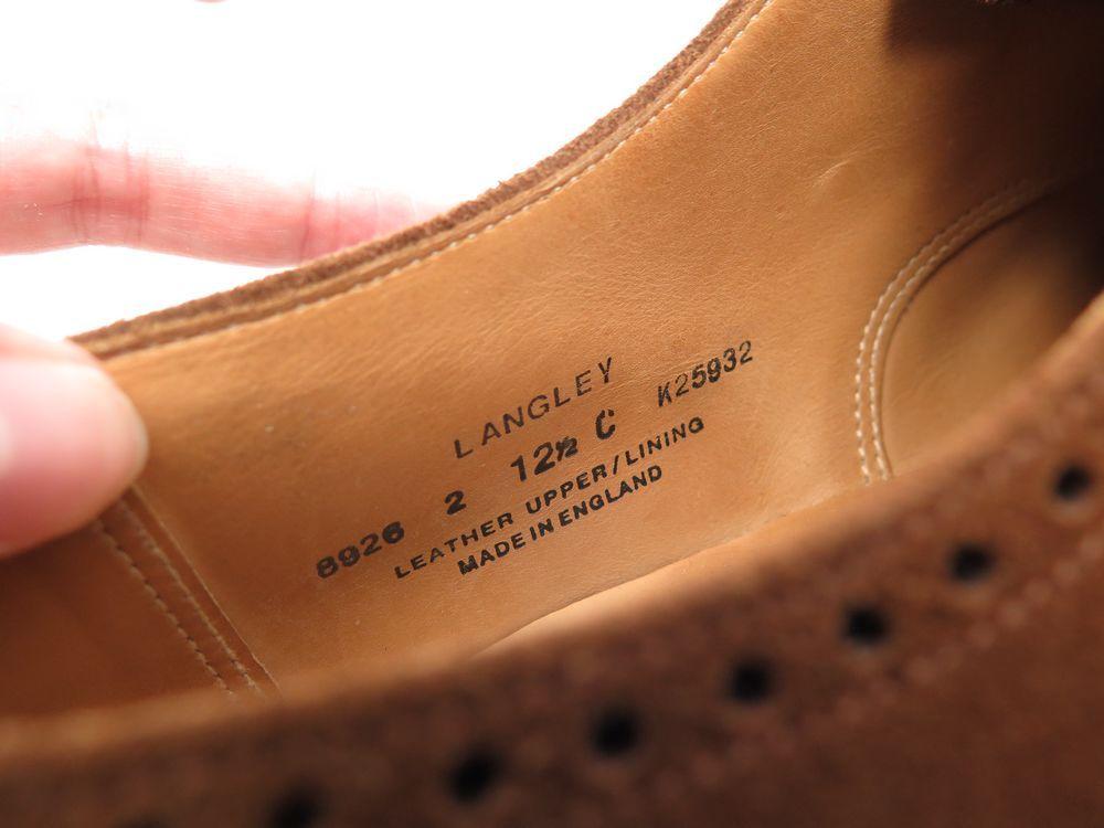 a4e692ae185b5 CHAUSSURES CROCKETT & JONES LANGLEY RICHELIEU 12.5 46.5 SUEDE MARRON SHOES  530€. Next